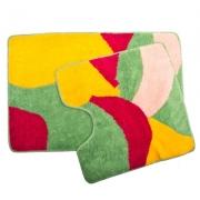 Набор ковриков 2шт для ванной и туалета, акрил, 60x90см + 60x60см, Color
