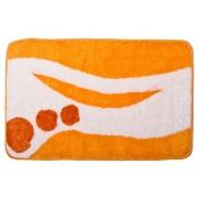 Коврик для ванной, акрил, 50x80см, Графика, оранжевый