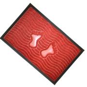 Коврик ворсовой с резиновой каймой Footprint цвет в асс. 40*60см, CX1024