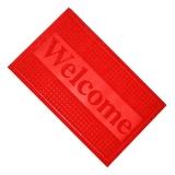Коврик в прихожую, полиэстер, резина, 45х75см, Welcome, 4 цвета