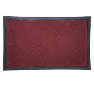 Коврик ворсовый с резиновой каймой 45х75см микс(серый, синий, коричневый, красный) CR031