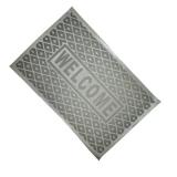 Коврик резиновый Welcome узор ПВХ 36х57 см 9021 серый