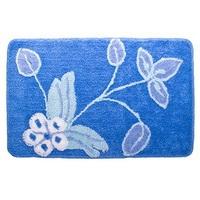 Коврик для ванной, акрил, 50x80см, Цветы, синий