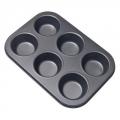 Форма для выпечки булочек 6ячеек 26,5x18x3см SL-3104
