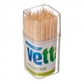 Зубочистки 180шт, бамбук, пластиковая упаковка