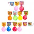 Набор праздничный Поздравляем (растяжка 250х15см + 10 шариков), бумага резина, 2205