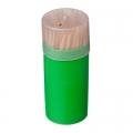 Зубочистки 60шт, бамбук, пластиковая упаковка