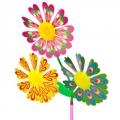 """Игрушка ветряная вертушка """"Летний цветок"""" тройка, ПВХ/пластик, 16,5х30см"""
