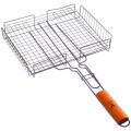 Решетка-гриль для мяса, углеродистая сталь, 55х31х24см (глубина 5,5см), антипригарная
