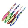 """Пилка для ногтей металлическая с пластиковой ручкой, 13,5см, """"Цветок"""""""