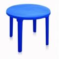 Стол круглый пластик синий 32160