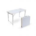 Стол складной ССТ-3 столешница пластик/ножки сталь металлик Ника