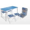 Комплект походной мебели (стол 1000*500 скл.+4 стула) пл. ССТ-К2