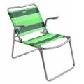 Кресло-шезлонг складное 1 сетка зеленый К1