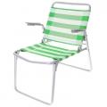 Кресло-шезлонг складное 1 сетка зелено-белый К1