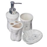 Набор для ванной 4 пр. керамика подар.упак. Гармония