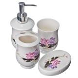Набор для ванной 4 пр. керамика подар.упак. Весенние цветы