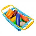 Набор продуктов в корзине 22х15х7,5см пластик 2дизайна 6751B/6752B