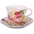Набор чайный 2предмета 220мл фарфор Букет Радости