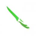 """Нож кухонный 6"""" лезвие с зеленым покрытием, зелено-белая ручка NSP04-3"""