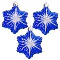 Набор украшений 3шт, 7см, пластик, в виде звезды, цвет синий, SY14QJH-180