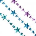 Бусы 270см пластик в виде звезд, 3 цвета, VB2/VB4/VU1