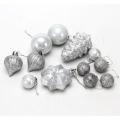 Набор украшений 12шт, пластик, цвет: серебро