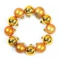 Набор шаров 12шт, 4см, пластик, в пакете, золото, N2/4012 -B01CA01C