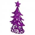 Елка декоративная 16см, металл, цвет: фиолетовый