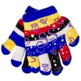 Перчатки детские двойные 12см на 4-6 лет, 95% акрил, 5% спандекс, 6 цветов, 2015-15