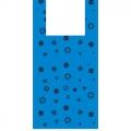 Пакет-майка ПНД 33+18*57 17мкм Звезда синий