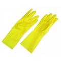 Перчатки резиновые желтые S 12
