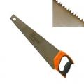 Ножовка по дереву 450мм, закаленный зуб, трехстор заточка, (чистый пропил, 12 зубьев на дюйм)