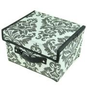 Кофр-короб складной, жесткий с крышкой и ручкой, 27x21x14см, флизелин