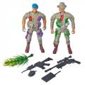 Набор фигурок Солдатики 2шт, пластик, 9,5х4см, 3 цвета