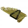 Набор ключей накидных, 12 предметов, пластик (желтый цинк)
