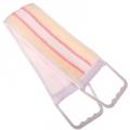 Мочалка-лента с пластиковыми ручками, полиэстер, 58х10см