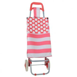Тележка+ сумка Разноцветные полосы Грузоподъемность до 20 кг