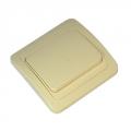 Выключатель одноклавишный, цвет бежевый 10А 250В, керамика
