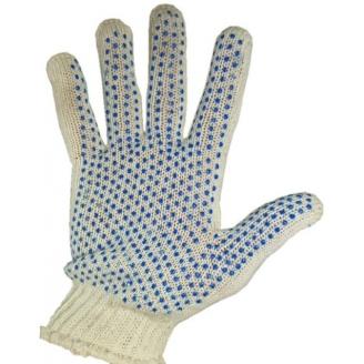 Перчатки 7 класс 624 с ПВХ напылением точка