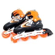 Коньки роликовые раздвижные колеса PU L39-42 оранжевый G901A