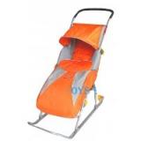 Санки-коляска Тимка 2 Комфорт оранжевый