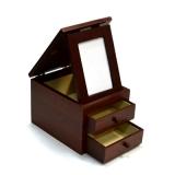 Шкатулка для ювелирных изделий, мдф под дерево 17х14х12см 518-9