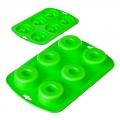 Форма силиконовая для кексов 6 ячеек 24.3x16.5x2.6 см HS4343