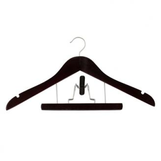 Вешалка с держателем для брюк 45см цвет Венге