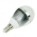 Лампа Led 2700К тёплый солнечный свет, E14, алюминиевый корпус, 3W, 85-235V