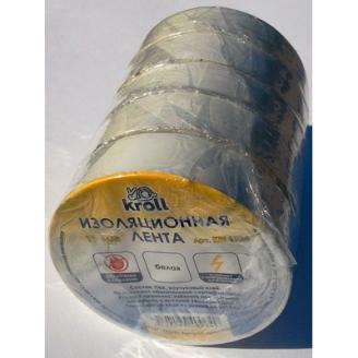 Изолента ПВХ 15мм*20м белая Kroll/200/5