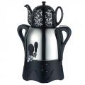 Самовар электрический с заварочным чайником 3л/1л, 1800Вт, металл/керамика, черный