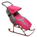 Санки-коляска Nika Тимка 2 Комфорт розовый