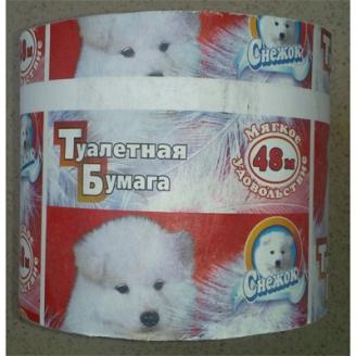 Бумага туалетная Снежок серая 48м